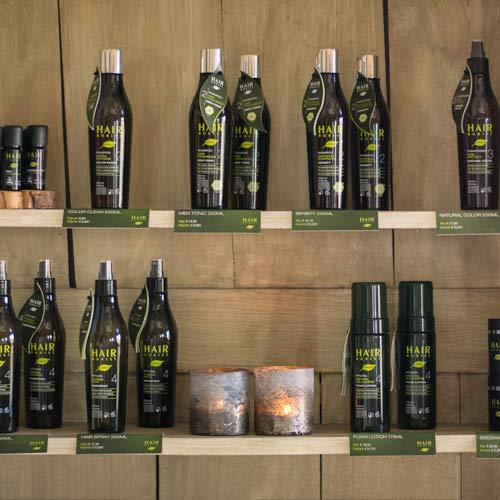 Het Hairborist verzorgingsgamme bij biokapsalon Naturel